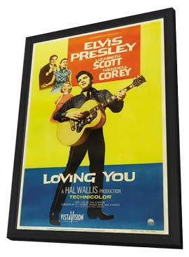 Loving You - 11 x 17 Movie Poster - Style B - in Deluxe Wood Frame
