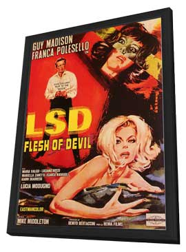 LSD Flesh of Devil - 11 x 17 Poster - Foreign - Style A - in Deluxe Wood Frame