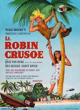 Lt. Robin Crusoe, U.S.N. - 11 x 17 Movie Poster - Danish Style A
