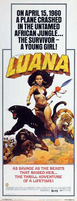 Luana, the Girl Tarzan - 14 x 36 Movie Poster - Insert Style A