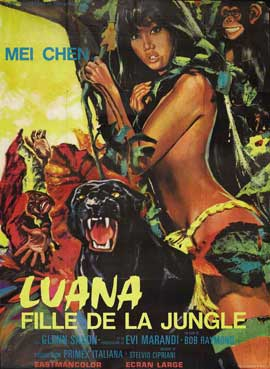 Luana, the Girl Tarzan - 11 x 17 Movie Poster - French Style A