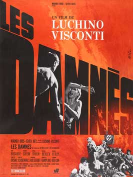 Luchino Visconti's The Damned - 11 x 17 Movie Poster - French Style A