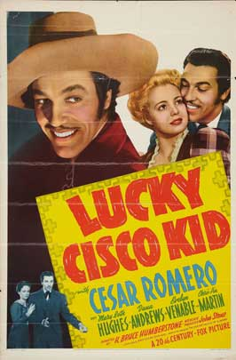 Lucky Cisco Kid - 27 x 40 Movie Poster - Style A