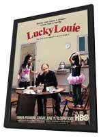 Lucky Louie - 11 x 17 TV Poster - Style A - in Deluxe Wood Frame