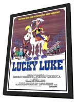 Lucky Luke - 11 x 17 Movie Poster - Style A - in Deluxe Wood Frame