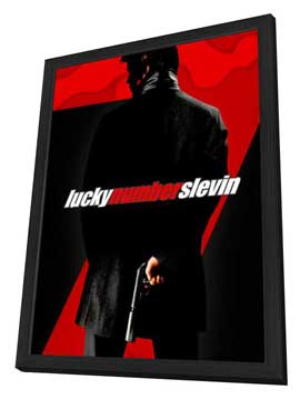 Lucky Number Slevin - 27 x 40 Movie Poster - Style C - in Deluxe Wood Frame