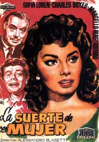 Lucky to Be a Woman - 11 x 17 Movie Poster - Spanish Style A