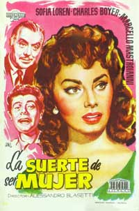 Lucky to Be a Woman - 11 x 17 Movie Poster - Spanish Style B