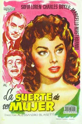 Lucky to Be a Woman - 27 x 40 Movie Poster - Spanish Style A