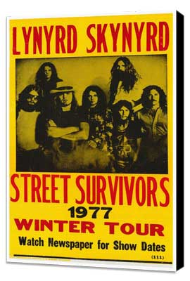 Lynyrd Skynyrd - 27 x 40 Movie Poster - Style A - Museum Wrapped Canvas