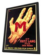 M - 27 x 40 Movie Poster - German Style E - in Deluxe Wood Frame