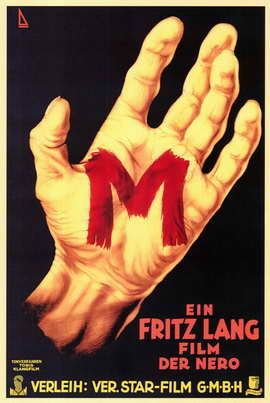 M - 27 x 40 Movie Poster - German Style E