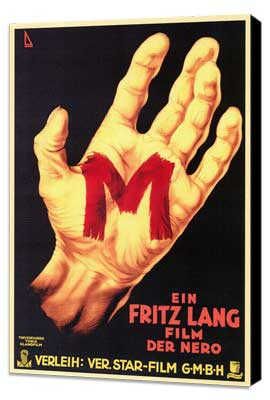 M - 27 x 40 Movie Poster - German Style E - Museum Wrapped Canvas