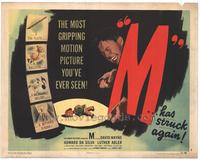 M - 11 x 14 Movie Poster - Style C