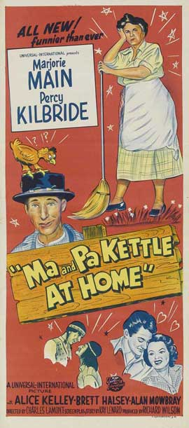 Ma and Pa Kettle at Home - 13 x 30 Movie Poster - Australian Style A