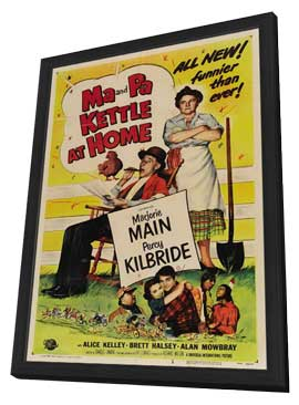 Ma and Pa Kettle at Home - 27 x 40 Movie Poster - Style A - in Deluxe Wood Frame