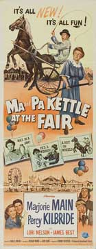 Ma and Pa Kettle at the Fair - 14 x 36 Movie Poster - Insert Style B