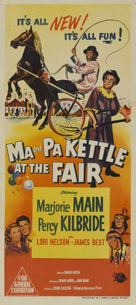 Ma and Pa Kettle at the Fair - 14 x 36 Movie Poster - Insert Style A