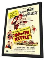 Ma and Pa Kettle - 11 x 17 Movie Poster - Style A - in Deluxe Wood Frame