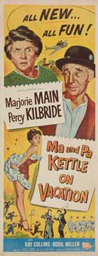 Ma and Pa Kettle on Vacation - 14 x 36 Movie Poster - Insert Style B