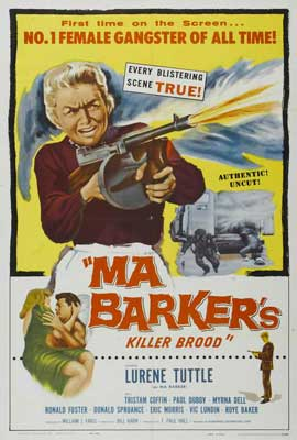 Ma Barker's Killer Brood - 27 x 40 Movie Poster - Style A