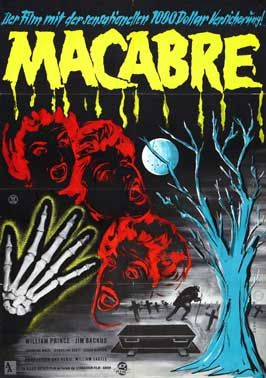 Macabre - 11 x 17 Movie Poster - Belgian Style A