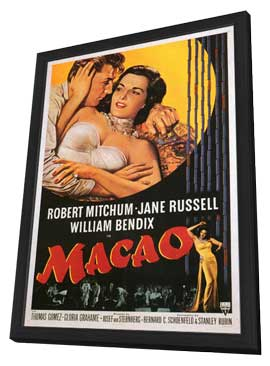 Macao - 11 x 17 Movie Poster - Style A - in Deluxe Wood Frame