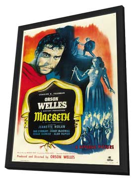 Macbeth - 27 x 40 Movie Poster - Style A - in Deluxe Wood Frame