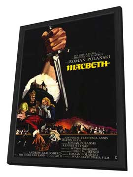Macbeth - 11 x 17 Movie Poster - French Style A - in Deluxe Wood Frame