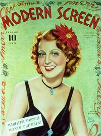 Jeanette MacDonald - 11 x 17 Modern Screen Magazine Cover 1930's Style C