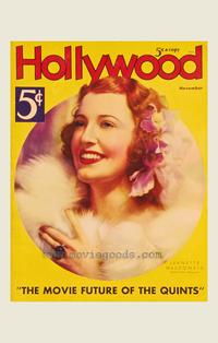 Jeanette MacDonald - 27 x 40 Movie Poster - Hollywood Magazine Cover 1930's Style A