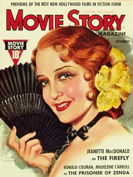 Jeanette MacDonald - 27 x 40 Movie Poster - Movie Story Magazine Cover 1930's