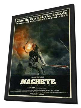 Machete - 27 x 40 Movie Poster - Style B - in Deluxe Wood Frame