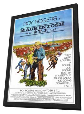 Mackintosh and T.J. - 11 x 17 Movie Poster - Style A - in Deluxe Wood Frame