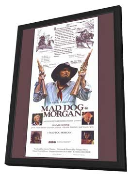 Mad Dog Morgan - 11 x 17 Movie Poster - Style B - in Deluxe Wood Frame