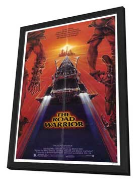 Mad Max 2: The Road Warrior - 11 x 17 Movie Poster - Style B - in Deluxe Wood Frame
