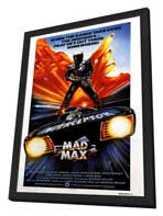 Mad Max - 27 x 40 Movie Poster - UK Style A - in Deluxe Wood Frame