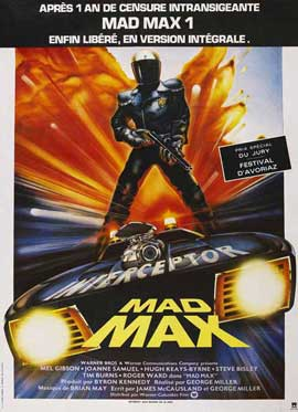 Mad Max - 11 x 17 Movie Poster - French Style A