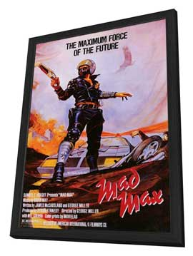 Mad Max - 11 x 17 Movie Poster - Style A - in Deluxe Wood Frame