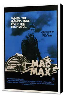 Mad Max - 27 x 40 Movie Poster - Australian Style A - Museum Wrapped Canvas