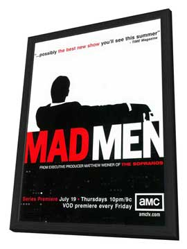 Mad Men - 11 x 17 TV Poster - Style A - in Deluxe Wood Frame