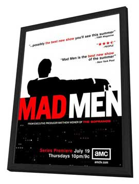 Mad Men - 27 x 40 TV Poster - Style B - in Deluxe Wood Frame