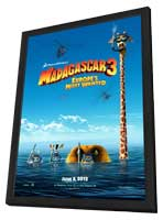 Madagascar 3 - 11 x 17 Movie Poster - Style B - in Deluxe Wood Frame