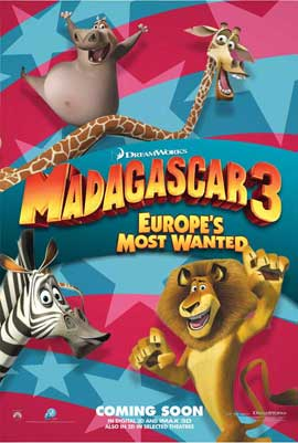 Madagascar 3 - 11 x 17 Movie Poster - Style A