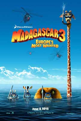 Madagascar 3 - 11 x 17 Movie Poster - Style B