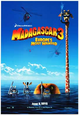 Madagascar 3 - DS 1 Sheet Movie Poster - Style A