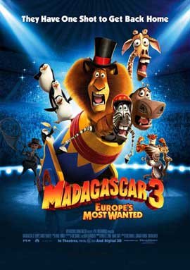 Madagascar 3 - 27 x 40 Movie Poster - Style B