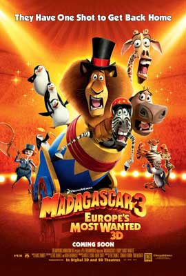 Madagascar 3 - 11 x 17 Movie Poster - Style D