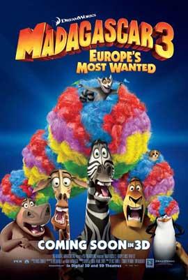 Madagascar 3 - 11 x 17 Movie Poster - Style E