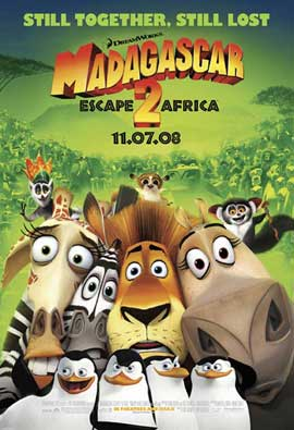 Madagascar: Escape 2 Africa - 27 x 40 Movie Poster - Style B